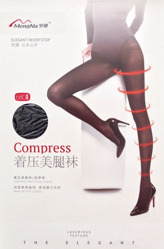 MengNa 梦娜 Black Fashion Stress Panty Hose