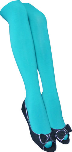 ITAGO Fashion Color Pantyhose - Turquoise color