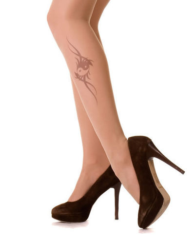 Tattoo Pantyhose YinYang from Hotlook